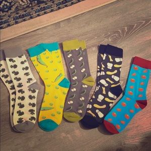 Mens Combed Cotton Colorful Patterned Dress Socks